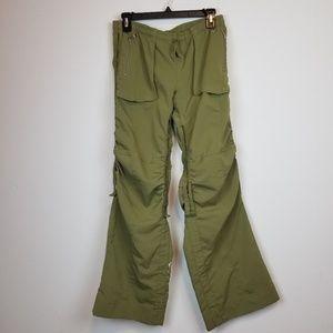 Nike women's green cargo exercise pants size xs